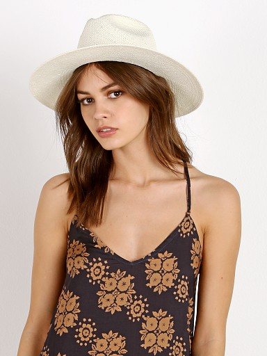 Janessa Leone Marcell Packable  Fedora Bleach