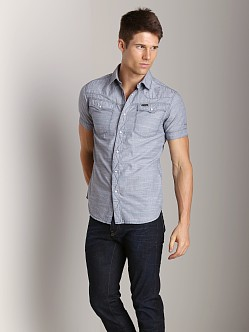 G-Star Tailor Short Sleeve Shirt Sapphire Blue