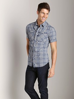 G-Star Hunter Western Short Sleeve Shirt Pacific