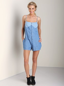 One Teaspoon Smokey Jumpsuit Chambray