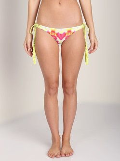 Bettinis Lulu Reversible Bikini Bottom Acid Lime