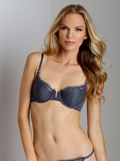 Calvin Klein Eyelash Chantilly Lace Demi Bra Stone Lead
