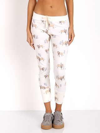 All Things Fabulous Lion & Mouse Thermal Pants Bone