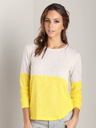 LNA Clothing Mazanita Sweater Yellow