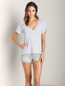 LNA Clothing Carmen V Neck Heather Grey