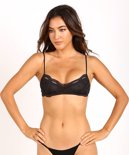 Eberjey India Lace Retro Bralette Black