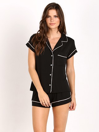 Eberjey Gisele Short PJ Set Black/Sorbet