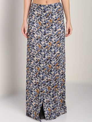 Stillwater The Button Front Maxi Blue Floral