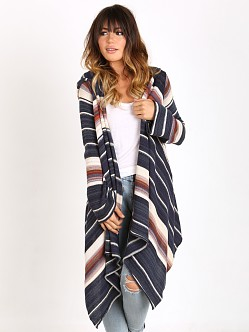 Goddis Leona Hooded Wrap Sweater Silver Sand