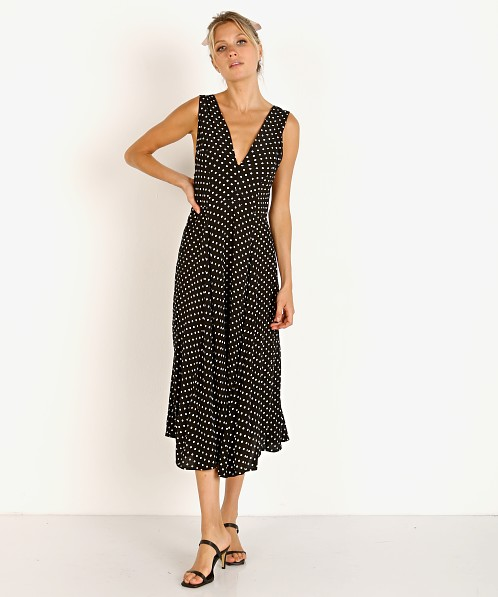 Cleobella Jessie Midi Dress Polka Black