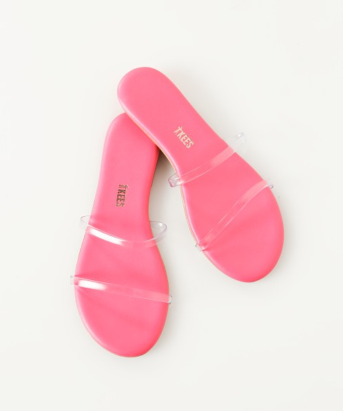 Tkees Gemma Sandal Clear Pink Gem