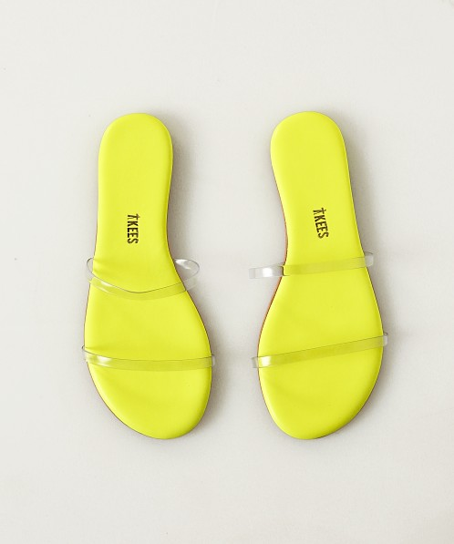 Tkees Gemma Sandal Clear Yellow Gem