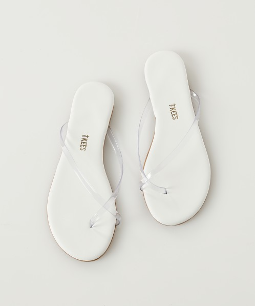 Tkees Riley Sandal Clear White