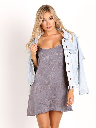 Blue Life Christy Mini Slip Dress Pewter Rain