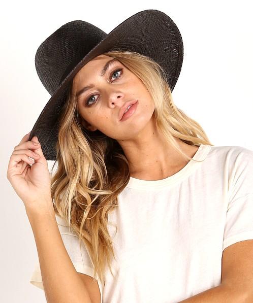 c26d13b15 Janessa Leone Lynn Panama Hat Black