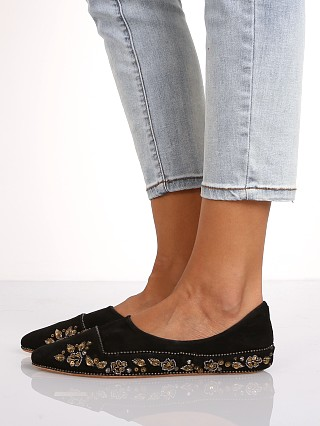 Model in black Free People Parissa Flat