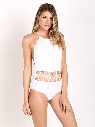 Model in casa blanca Beach Riot Bianca One Piece
