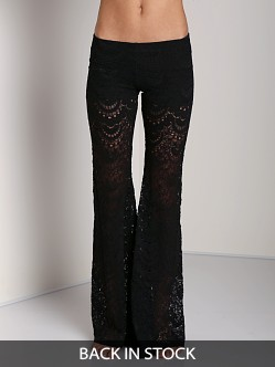 Nightcap Spanish Fan Lace Pant Black