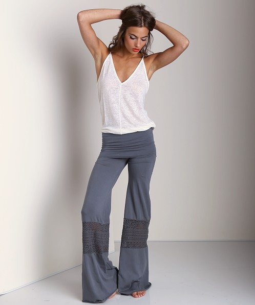 Nightcap Crochet Beach Pant Charcoal