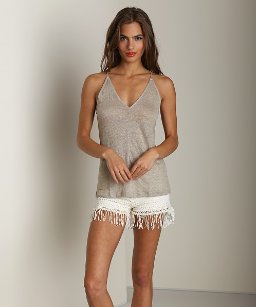 Nightcap Linen T Strap Tank Natural