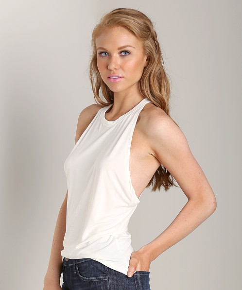 Lovers + Friends Silver Lining Tank White Jersey