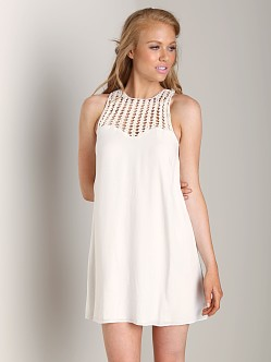 Lovers + Friends Plumeria Dress White