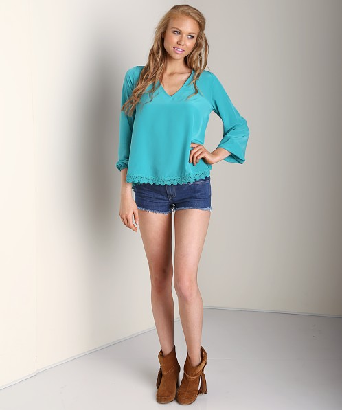 Lovers + Friends Daydream Blouse Lagoon