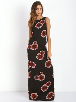 Winston White Provence Floral Lucy Dress Black Cherry