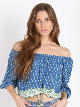 Faithfull the Brand Garden Top Indigo Paisley