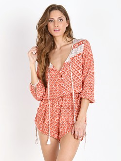 Faithfull the Brand Woodstock Playsuit Haute Red