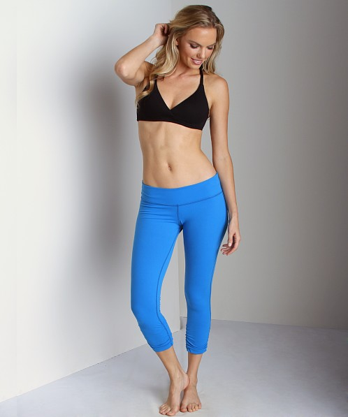 Beyond Yoga Peached Supplex Gathered Crop Legging Catalina