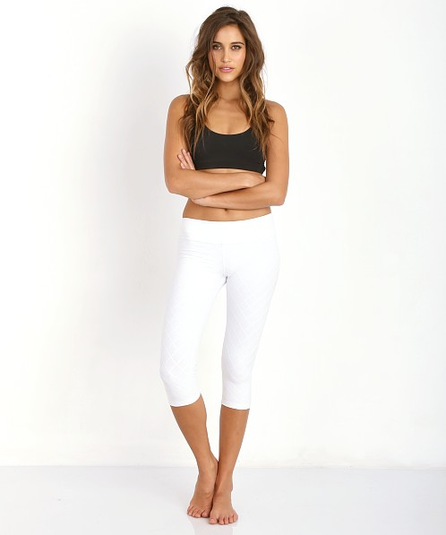 Beyond Yoga Quilted Cropped Legging White QF3079