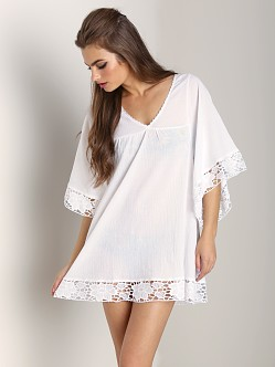 L Space Off Shore Caftan White