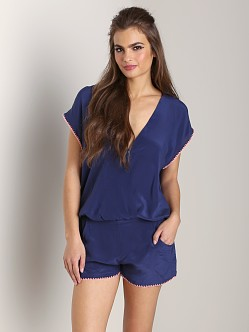 L Space Storm Watch Romper Navy