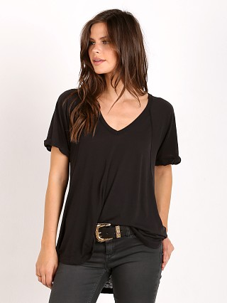 Free People Burnout Free Fallin Tee Black