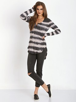 Free People Shiny Slub Radical Tunic Oatmeal Combo