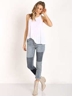 Free People Rayon Slub Long Beach Tank White