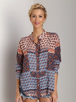 Free People Caravan Top Blue Multi