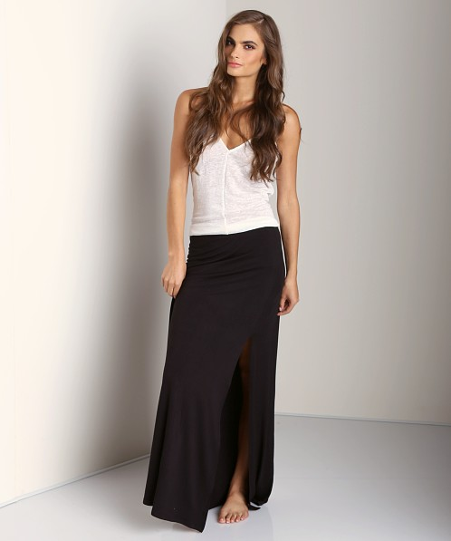 Free People Soild Sahaying Skirt Black