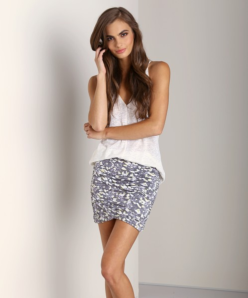 Free People Essential Scrunch Skirt Grey Combo