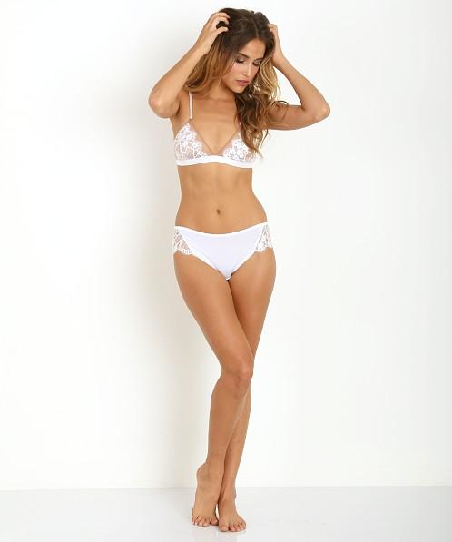 SKIVVIES by For Love & Lemons Anastasia Bra White