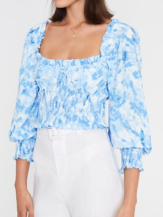 Faithfull the Brand Willow Top Roos Tie Dye Blue