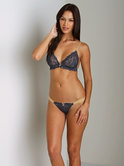 Amulette Joise Thong Navy/Gold