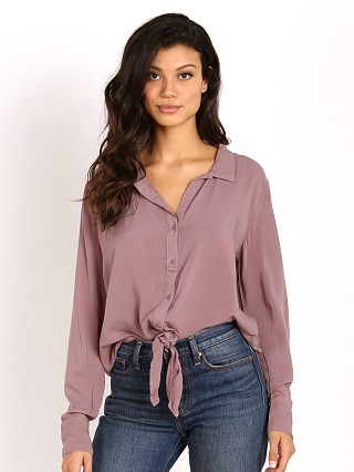 Bella Dahl Tie Front Button Down Ashberry