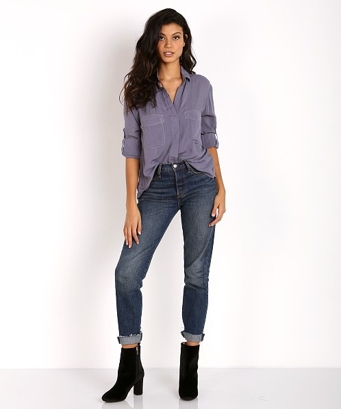 Bella Dahl Split Back Button Down Lake