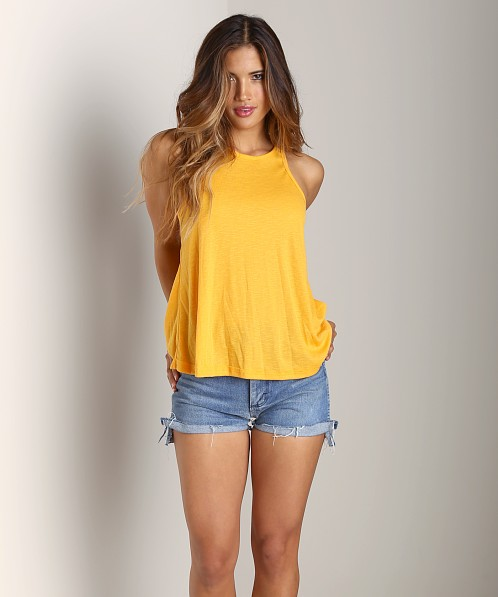 Free People Long Beach Tank Sunflower