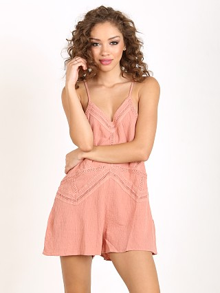 Somedays Lovin Saikata Cotton Playsuit Rust