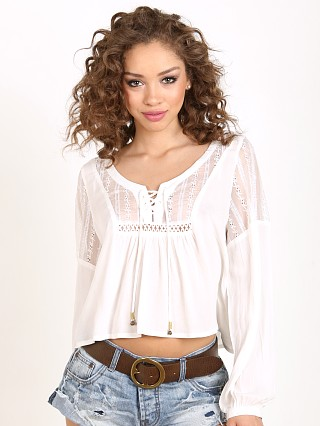 Somedays Lovin Caves Embroidered Blouse Off White
