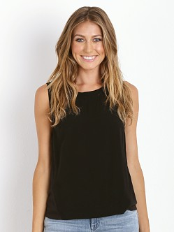 Splendid Always Shirting Boxy Muscle Tee Black