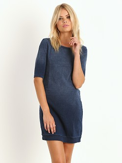 Splendid Always Shirting Short Sweater Dress Vintage Dark Wash